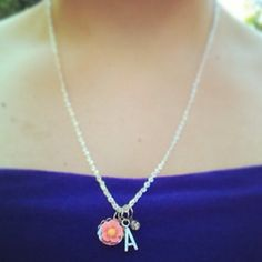New Initial charm necklace / alphabet letter by AnnabellandLouise, $12.00