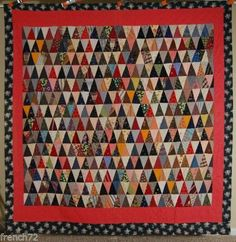 OUTSTANDING-Vintage-1890s-10-000-Pyramids-Antique-Quilt-BEST-OF-KIND