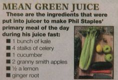 """Mean Green Juicing Recipe 