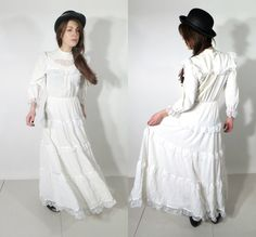 Vintage Bohemian Wedding Dress / Boho Wedding Dress / by JustGiza