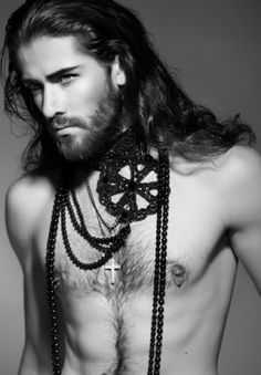 Long Curly Hairstyle for men.. Freaking sexy