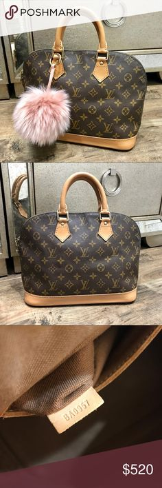 89014692c07c 💕Authentic Painted Louis Vuitton Alma PM💕 Authentic LV Alma from my  collection. Good used condition a staple in the closet! The D rings allow  to add long ...