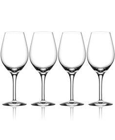 Orrefors Set of 4 More Wine Glasses