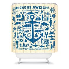 Anderson Design Group Anchors Aweigh Shower Curtain  DENY Designs
