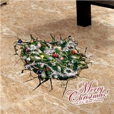 3D Wandtattoo Weihnachten Weihnachtsbaum