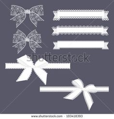 Lace Ribbons Set - stock vector