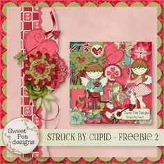 Scrapbooking TammyTags -- TT - Designer - Sweet Pea Designs,  TT - Item - Border,  TT - Style - Cluster, TT - Theme - Love, Valentines, or Wedding