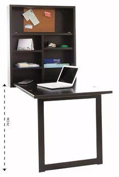 escritorio plegable de madera, ahorraespacio, cubierta 2en1.                                                                                                                                                                                 Más