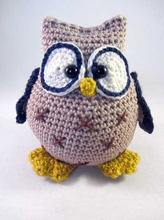 Udo the Owl amigurumi pattern by Pii_Chii