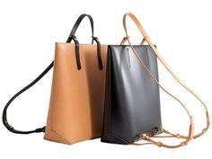 Iala Diez Eolie Max B Nude Leather Backpack Black Leather Backpack, Leather Shoulder Bag, Leather Bags, Shoulder Bags, Max Black, Convertible Backpack, Sewing Leather, Backpack Bags, Bucket Bag