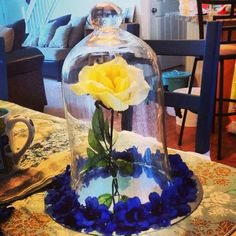 My beauty and the beast themed centerpieces.