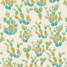 Everlasting Cacti in Terrain Metallic, from the Succulence Collection, by Bonnie Christine for Art Gallery Fabrics. This is a quilting weight,