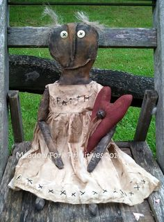 Extreme Prim Black Doll Faith epattern PDF Instant Download--Folk Art--Hafair team--FAAP