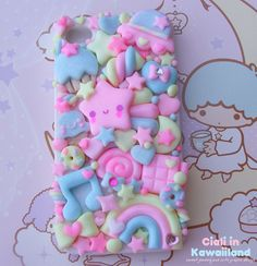 Super cute kawaii back case for Iphone 4 4s 5 Galaxy s2 s3 s4 and all smartphone on Etsy, $45.27