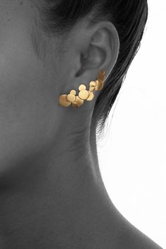 Beautiful konfetti earrings - gold, by Maria Black