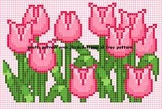 borduren bloemen kruissteekpatronen cross-stitching flowers