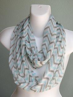 SALE Chevron Infinity Scarf Woman by DesignerScarvesWorld on Etsy, $11.99