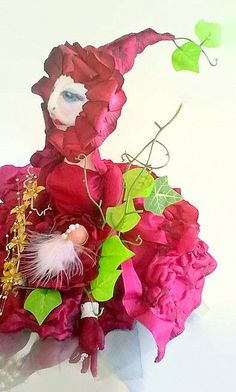 Mother Nature Cloth Art Doll - pinned by pin4etsy.com