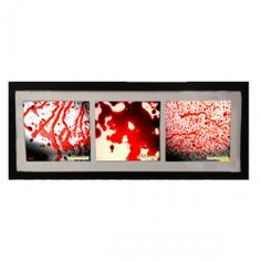 Dexter Framed Blood Spatter Prints