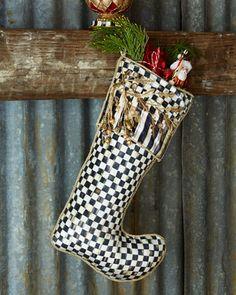 Golden+Laurel+Christmas+Stocking+by+MacKenzie-Childs+at+Neiman+Marcus.