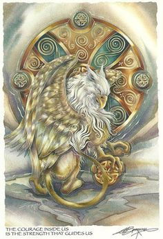 Gryphon Fantasy Jewelry & Gryphon Art Card Sets - Sterling Silver Griffin Jewelry with Griffin Art Cards! - Jody Bergsma Fantasy Jewelry & Art - Great gift for your fave faery or yourself! Magical Creatures, Fantasy Creatures, Fantasy World, Fantasy Art, Fantasy Images, Fantasy Paintings, Dragons, Fantasy Cross Stitch, Earth Design