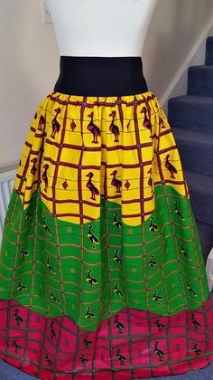 African Rastafri Maxi Skirt - Rastafari Maxi Skirt - Maxi skirt - African Clothing Rastafari Reggae Maxi Skirt - Ankara Print - Made In UK. Lovely African print full length cotton Maxi skirt, High waist and elasticized waist on back, gathering all around. Ankara | Dutch wax | Kente | Kitenge | Dashiki | African print dress | African fashion | African women dresses | African prints | Nigerian style | Ghanaian fashion | Senegal fashion | Kenya fashion | Nigerian fashion (affiliate)