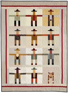 = free pattern = Cowhands quilt by Pam Rocco for Quilters Newsletter.  The sash and border can easily be  changed to accommodate as many cowhands and cows as you want.