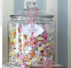 pastel water taffy jar