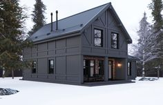 Trendy home exterior black metal roof 33 Ideas Metal Building Homes, Building Design, Building A House, Building Exterior, Building Ideas, Modern Exterior, Exterior Design, Style At Home, Black Metal Roof