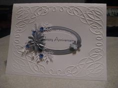 Cuttlebug Scroll Works E F, Spellbinders ovals, MS Pine Branch punch