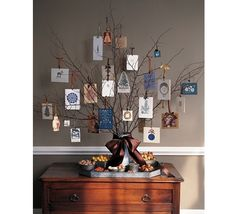 Natural Branch Christmas Card Display
