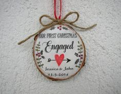 Engagement Ornament Engaged Christmas Ornament by ForesteDiOro