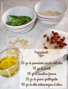 Cosa fa Cristina invece di andare in ferie? Va in giro scovando ricette semplici e saporite, come questo pesto di pomodori secchi di Paol...