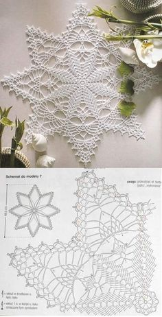 One of the most beautiful crochet works i have ever seen crochetfilet filetcrochet crochetlover crochet crochettablecenter…… Tereza gambale s 347 media analytics – Artofit This Pin was discovered by Kat World crochet: Napkin 86 - Salvabrani Doily by Crochet Dollies, Crochet Stars, Crochet Snowflakes, Thread Crochet, Crochet Flowers, Free Crochet Doily Patterns, Crochet Doily Diagram, Crochet Motif, Crochet Lace