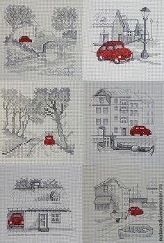 Вышивка крестом Приключения Красной машинки. Шесть сюжетов по дизайнам Pеrmin