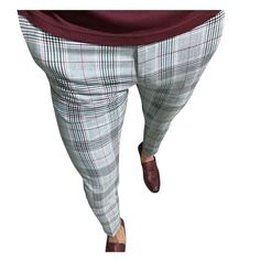 Plaid Skinny Hip Hop Pants NA01 – iawear Plaid Pants, Slim Fit Pants, Body Size, Long Pants, Body Shapes, Overalls, Hip Hop, Trousers, Men Casual