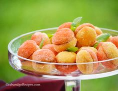 Italian Peach Cookies with Dulche de Leche Filling by grabandgorecipes: Beautiful! #Cookies #Peach