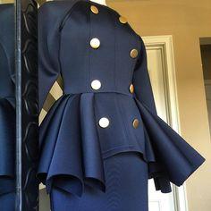 Nicci Hou Collection  Button Peplum Top/Skirt #niccihoucollection #niccihou #haute