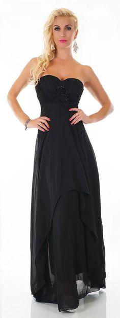 Černé dlouhé šaty High Low, One Shoulder, Formal Dresses, Fashion, Dark Eye Circles, Dresses For Formal, Moda, Fashion Styles, Fasion