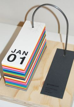 Fedrigoni Perpetual Desk Calendar on Behance