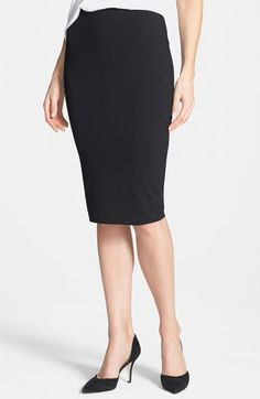 Vince Camuto Stretch Knit Midi Tube Skirt (Regular & Petite) available at…