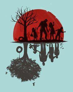 Zombie Family Portrait