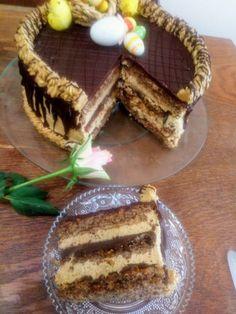 Dobos Torte Recipe, Torta Recipe, Torte Cake, Torte Recepti, Kolaci I Torte, Baking Recipes, Cake Recipes, Dessert Recipes, Desserts