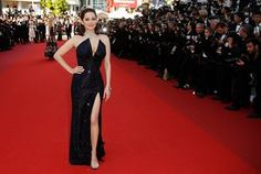 French actress Marion Cotillard arrives for the 70th Anniversary ceremony during the 70th annual Cannes Film Festival