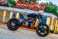 Vintage Motorcycles Cafe racers, scramblers, street trackers, vintage bikes and much more. The best garage for special motorcycles and cafe racers. - A garage for special motorcycles and cafe racers Vintage Bikes, Vintage Motorcycles, Custom Motorcycles, Motorcycles For Sale, Vintage Cars, Motorcycle Types, Motorcycle Travel, Motorcycle Design, Motorcycle Art