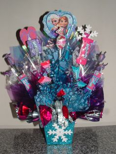 FROZEN Candy Centerpiece w/ Edible Party Favors An by CandyFlorist, $29.95