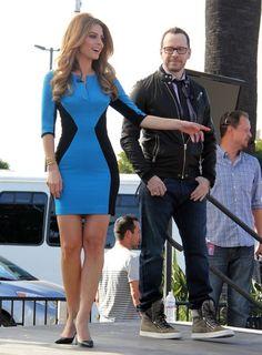 Maria Menounos wearing the BH Terri CB Mini on 'Extra'