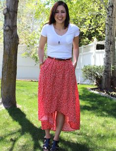 DIY High-low maxi skirt