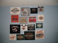 T Shirt Wall Art  •  Free tutorial with pictures on how to make wall decor in under 30 minutes