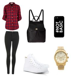 """Everyday outfit"" by alannahholmes ❤ liked on Polyvore featuring Topshop, Converse, Dolce&Gabbana and Michael Kors"